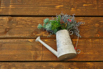vintage watering can, interior decoration