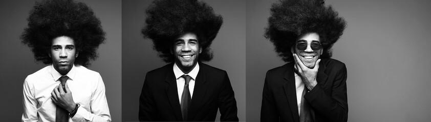 Art portrait of a afro man
