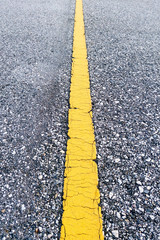Asphalt Road Texture bacgrounds with Yellow Strip