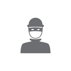 robber icon. Simple element illustration. robber symbol design template. Can be used for web and mobile
