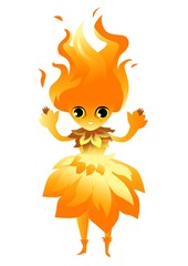 flame fire cute character
