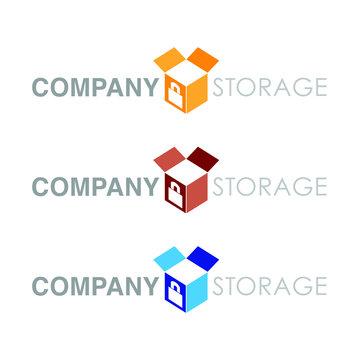 Storage logo for storage units, self storage, online storage etc.