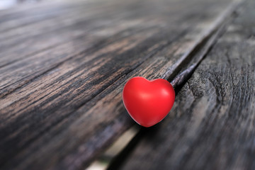 Love Heart on the wood Valentines Day background