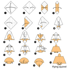 Step By Instructions How To Make Origami A Flying Squirrel