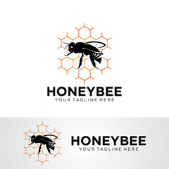 Honey Bee Logo Template Design Vector, Emblem, Design Concept, Creative Symbol, Icon