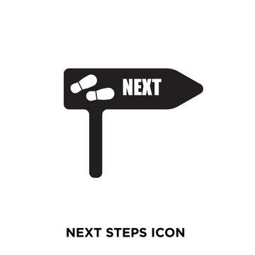 next steps icon Stock Vector | Adobe Stock
