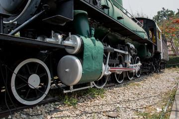Vintage Steam engine locomotive train