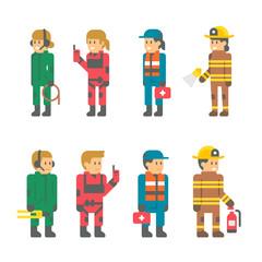 Flat design recuer staffs illustration vector