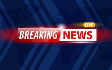 Shiny logo on TV channel giving breaking news translation live.