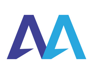 double letter A alphabet typography font uppercase image vector icon