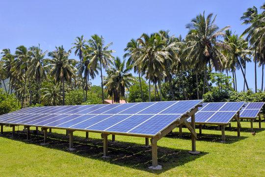 Solar PV modules in Rarotonga Cook Islands