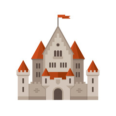 Flat castle illustration.