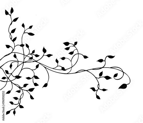 Ivy vine vector design element pretty leaves in elegant hand drawn ivy vine vector design element pretty leaves in elegant hand drawn illustration wedding invitation stopboris Image collections