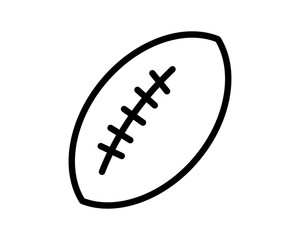 rugby ball icon sport equipment tool utensil image vector