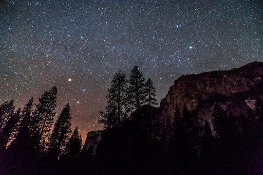 Stars in Yosemite Valley