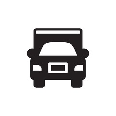 truck filled vector icon. Modern simple isolated sign. Pixel perfect vector  illustration for logo, website, mobile app and other designs
