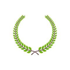 Green tree branch & green leaf illustration
