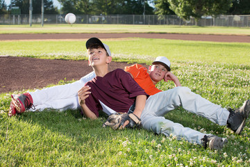 Baseball Players Relaxing