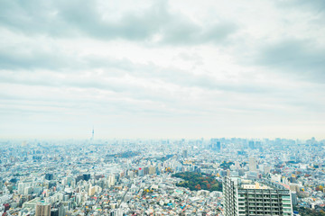 Papiers peints Tokyo Asia business concept for real estate and corporate construction - panoramic modern city skyline aerial view of Ikebukuro in tokyo, Japan
