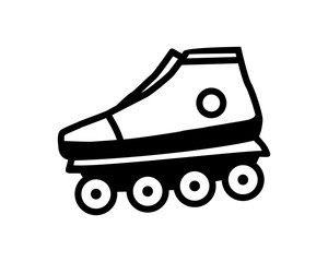 roller shoes icon sport equipment tool utensil image vector