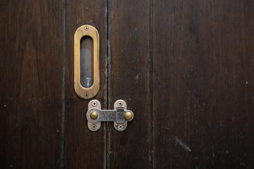old wood door lock