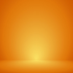Vector,Empty orange color studio room background ,Template mock up for display or montage of product,Business backdrop
