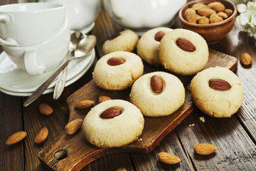 Nan Hathi.Indian traditional cookies with almonds