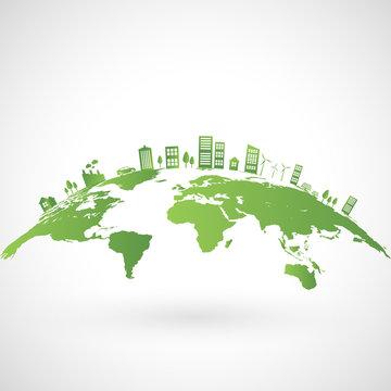 Green city on earth