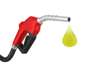Gas Pump Nozzle Isolated
