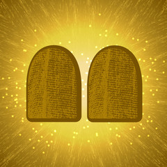 Shavuot. Concept of Judaic holiday. Tablets of the covenant