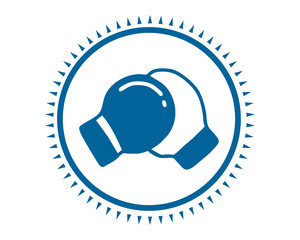 blue boxing gloves icon sport equipment tool utensil image vector