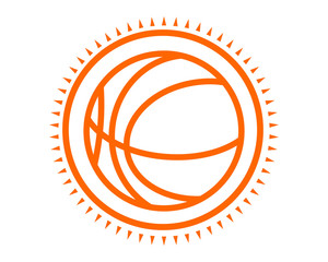 basket ball icon sport equipment tool utensil image vector