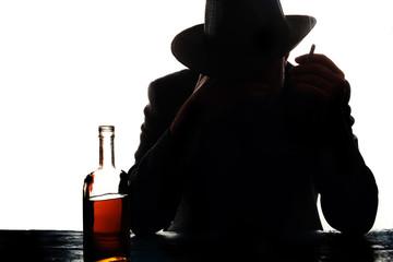 a drinking man