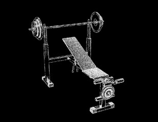 Exercise machine. Isolated on black background. Vector illustration.