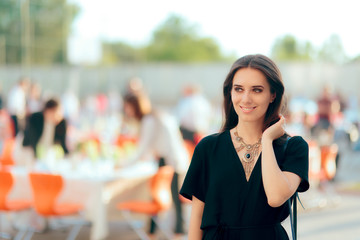 Event Planner PR Specialist Woman Organizing Outdoor Party