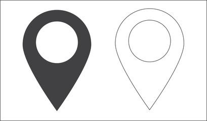 Lokalizator GPS na mapie wskaznik ikona