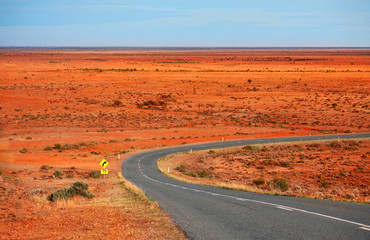 Early morning across Mundi Mundi Plains outback Australia