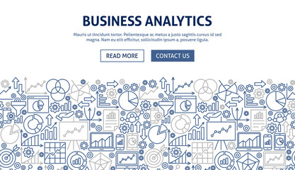 Business Analytics Banner Design