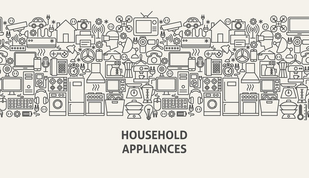Household Appliances Banner Concept