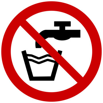 Not drinkable sign water