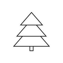 Xmas tree line icon. New year tree icon , fir-tree line icon