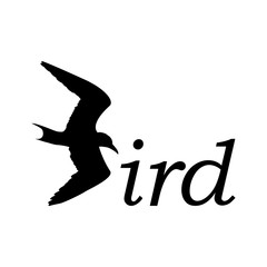 Logotipo Bird en color negro