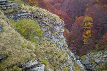 Canyon nel Parco Nazionale del Gran Sasso e Monti della Laga in Abruzzo (Teramo)
