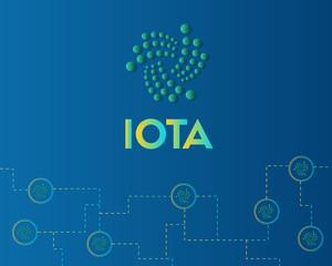 Cryptocurrency IOTA blockchain background style