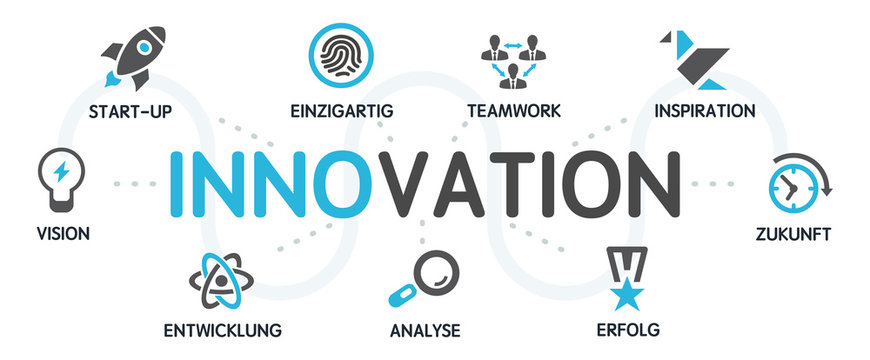 INNOVATION Vektor Grafik Icons Priktogramme