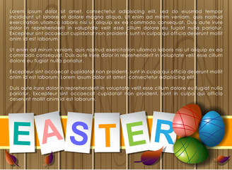 Abstract of Easter eggs. Banner and Background Template. Vector and Illustration, EPS 10
