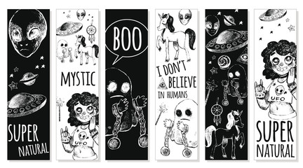 Set bookmarks with mystical objects.