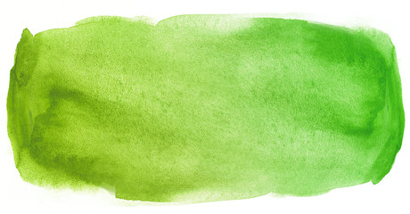 Watercolor texture stain green with water color blots and wet paint Fototapete
