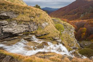 Cascata della Morricana nel Bosco Martese, Parco Nazionale dei Monti della Laga in Abruzzo