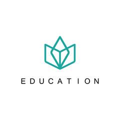 line book education logo